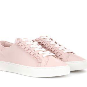 Tory Burch Ruffle Sneaker in Shell Pink